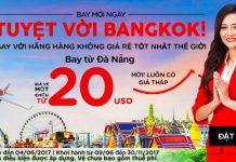 vé Air Asia chỉ từ 20 USD đi Bangkok từ Đà nẵng