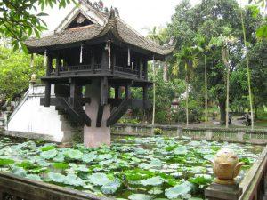 Đến Hà Nội du lịch chắc chắn bạn nên đến thăm Chùa Một Cột