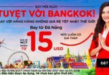 Vé Air Asia vi vu Đà nẵng - Bangkok giá chỉ từ 15 USD/1 chiều