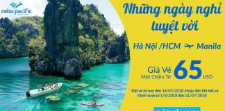 Đặt vé máy bay đi Manila giá rẻ của Cebu Pacific