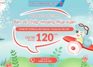 Khuyến mại mùa xuân của China Southern Airlines