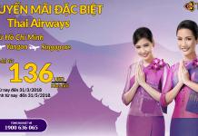 Đặt vé Thai Airways khứ hồi giá rẻ