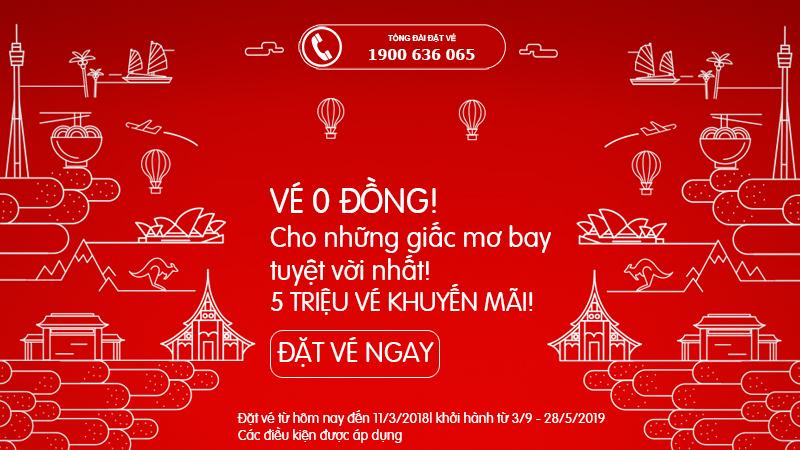 Air Asia mở bán 5 triệu vé 0 đồn
