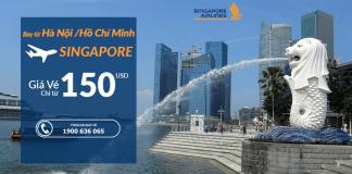 Đặt vé máy bay đi Singapore khuyến mại