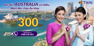 Đặt vé Thai Airways từ 300 USD