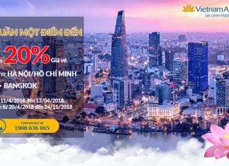 Vietnam Airlines giảm giá vé đến 20%
