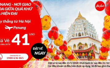 Đặt vé máy bay Hà Nội đi Penang giá rẻ