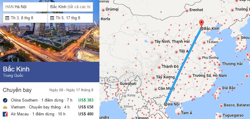 Tham khảo hành trình bay từ Hà Nội đến Bắc Kinh