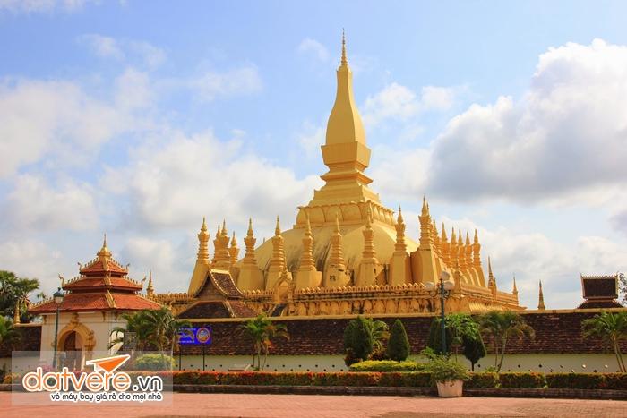 Pha That Luang ở thủ đô của Lào