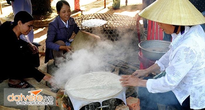 Nơi đây có nghề làm bánh tráng truyền thống