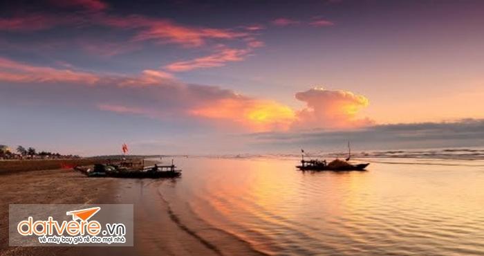 Hoàng hôn trên biển Diễn Thành