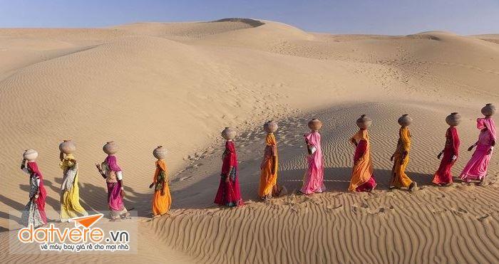 Cồn cát Sam trên sa mạc Great Thar là điểm đến hấp dẫn du khách