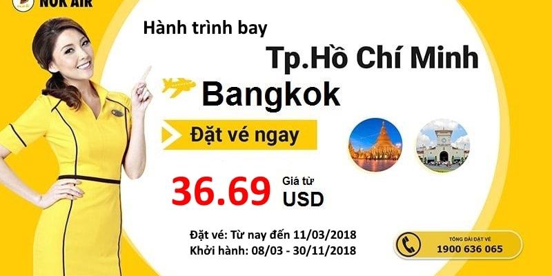 Nok Air mở bán vé máy bay đi Bangkok giá rẻ