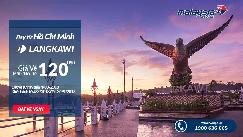 Đặt vé đi Langkawi giá rẻ của Hãng Malaysia Airlines