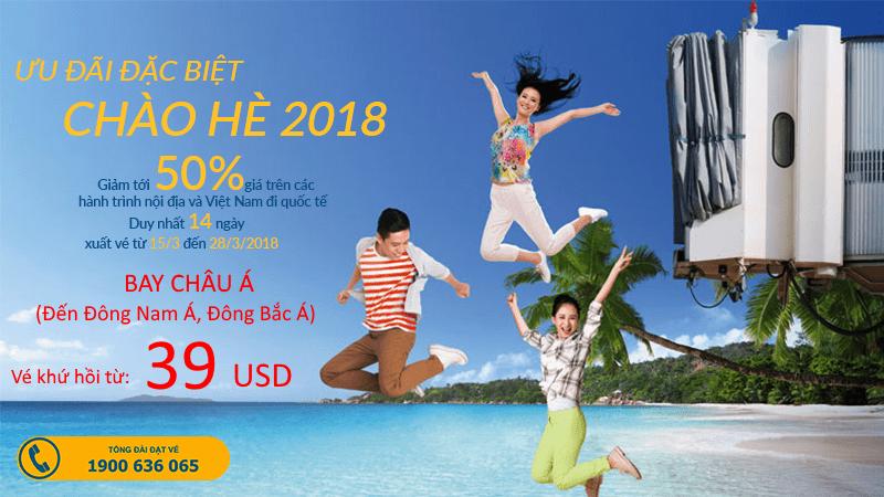 Vietnam Airlines mở bán vé khứ hồi từ 39 USD