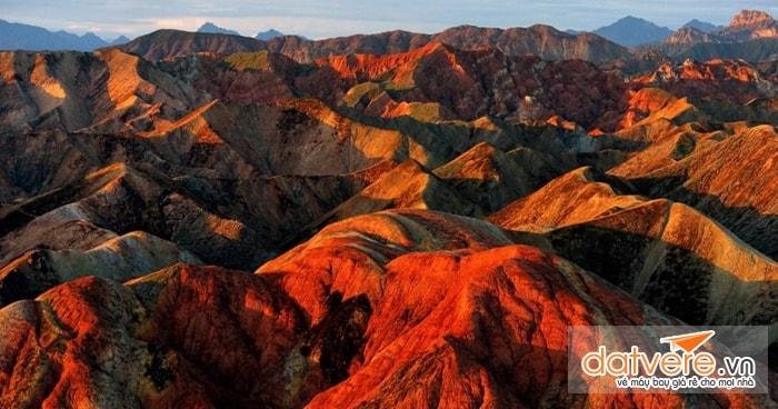 Toàn cảnh của công viên địa chất Trương Dịch Đan Hà