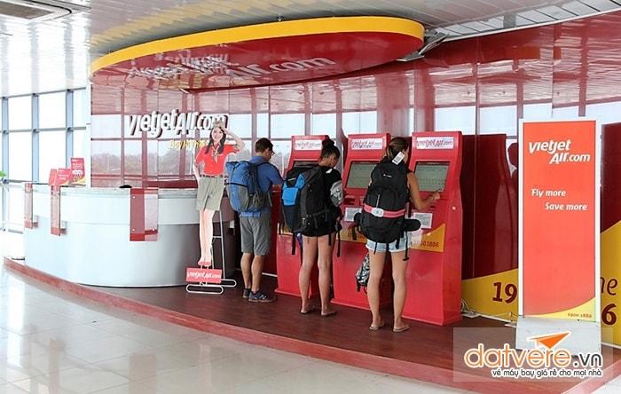 Dịch vụ check in online tại san bay của Vietjet
