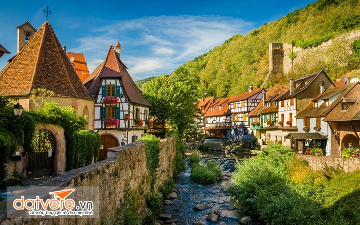 Ngôi làng ở Alsace- Pháp