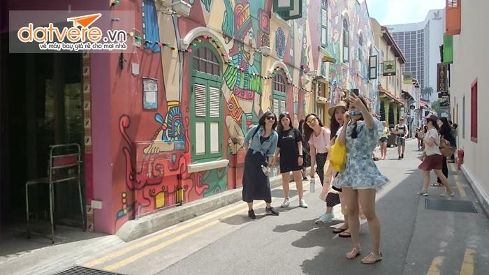Haji Lane con đường thời trang