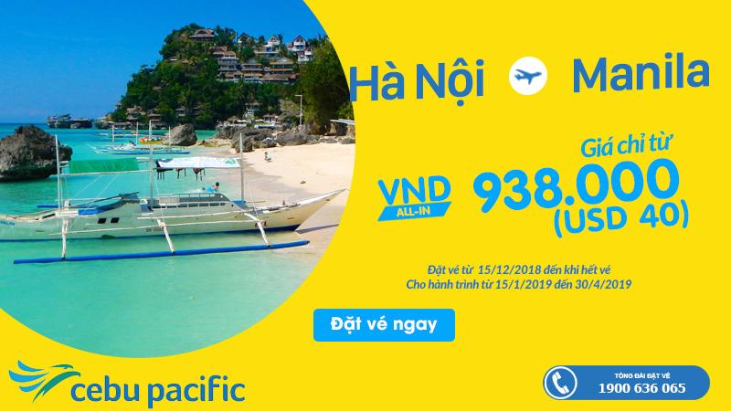 Giá vé từ Hà Nội đi Manila chỉ với 40$