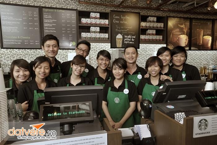 Đội ngũ nhân viên của Starbuck