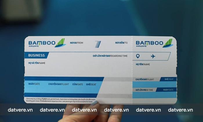 Mãu vé dự kiến của Bamboo Airwyas