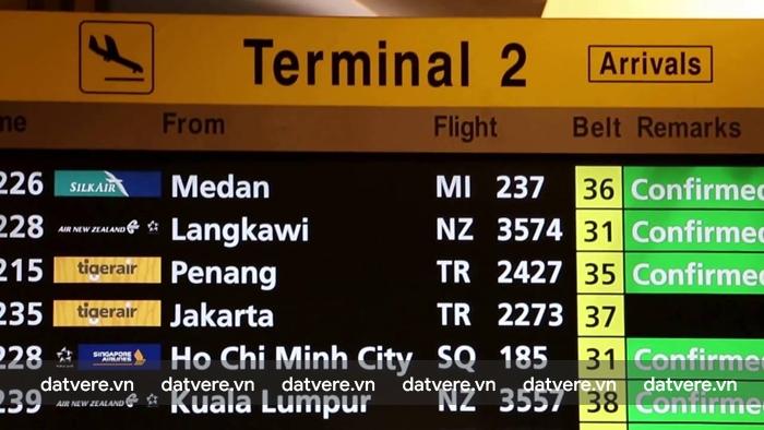 Bảng chỉ dẫn ở sân bay