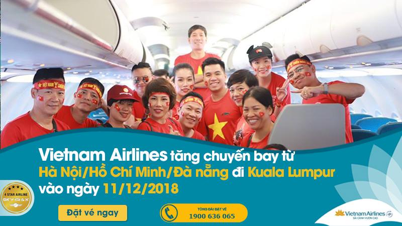 Tăng cường chuyến bay sang Kuala Lumpur