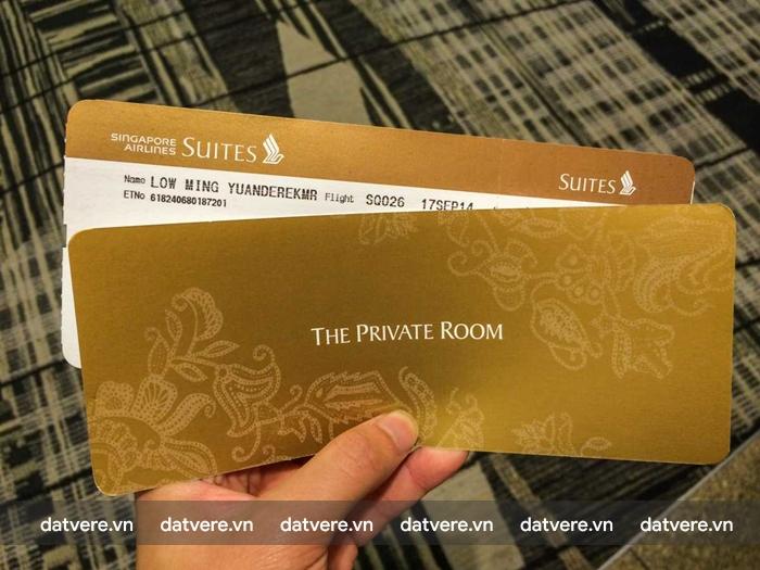 Vé hạng nhất của Singpore Airlines