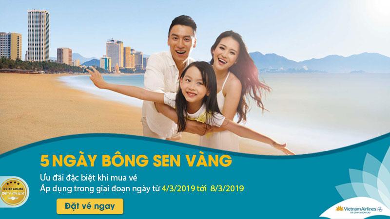 Khuyến mãi 5 ngày mua vé từ Vietnam AIrlines
