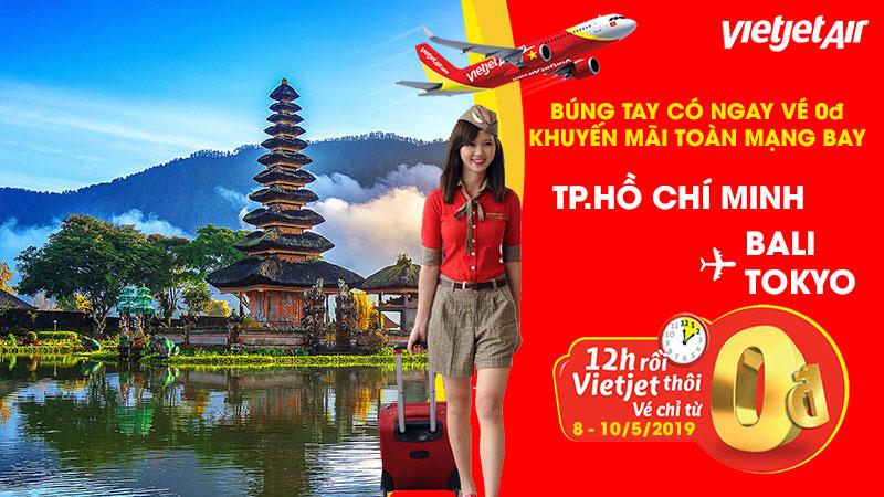 Vé máy bay khuyến mãi 0 đồng từ Vietjet