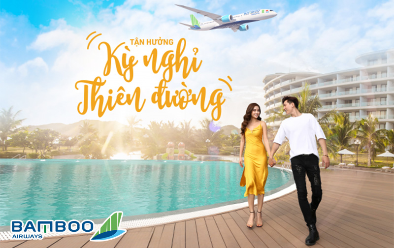 """Siêu khuyến mãi kỳ nghỉ thiên đường """" Gói cặp đôi"""" Bamboo Airways"""