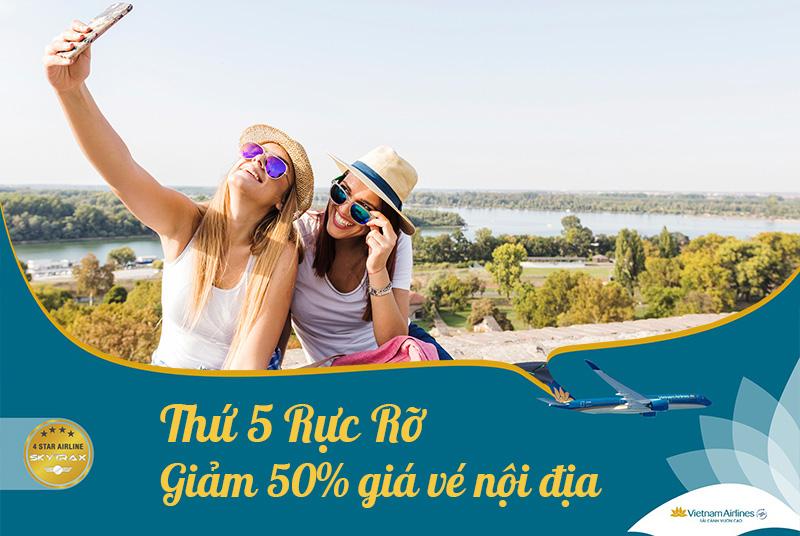 Thứ 5 rực rỡ cùng Vietnam Airlines săn vé khuyến mãi siêu rẻ