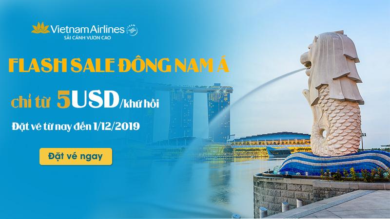 Ưu đãi hấp dẫn từ Vietnam Airlines chỉ 5 USD/khứ hồi