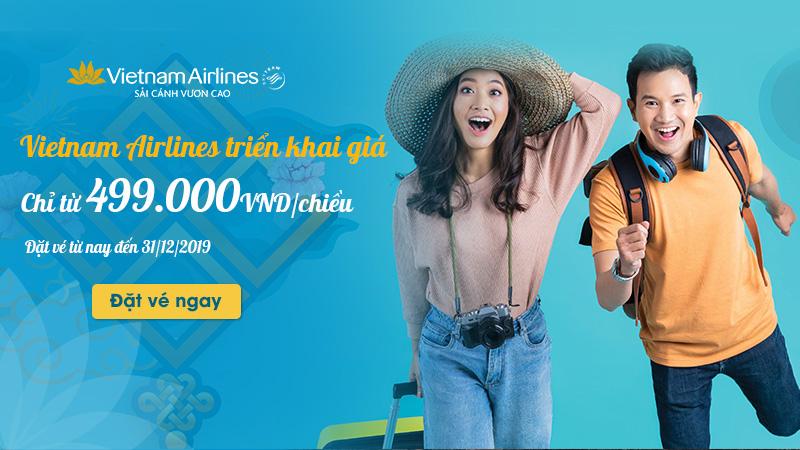 Vé máy bay Tết 2020 Vietnam Airlines chỉ 499.000 VND