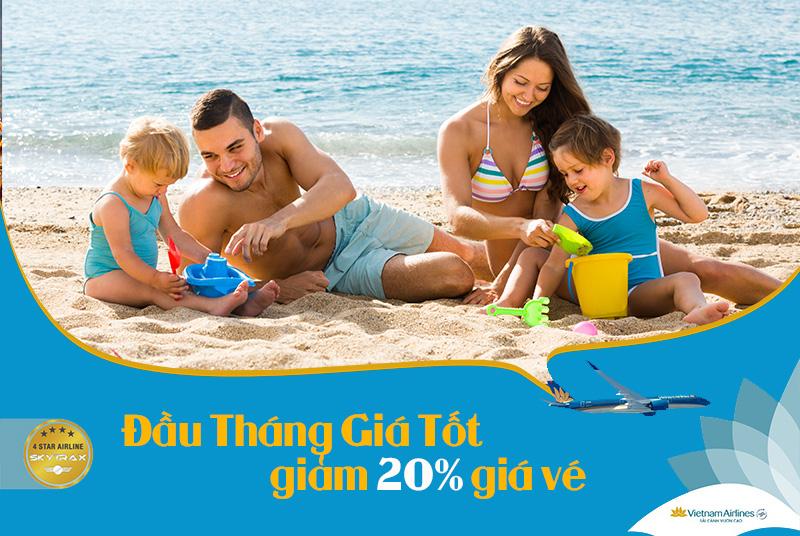 Giảm 20% giá vé khuyến mãi đầu tháng giá tốt Vietnam Airlines
