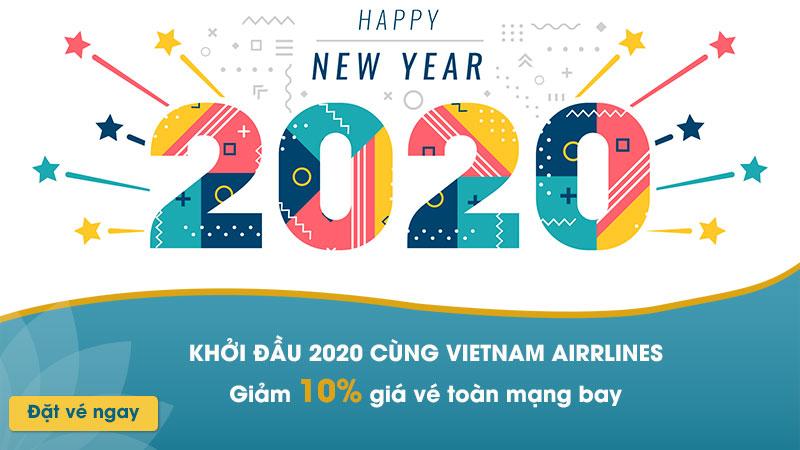 Khuyến mãi Vietnam Airlines giảm 10% khởi đầu năm mới