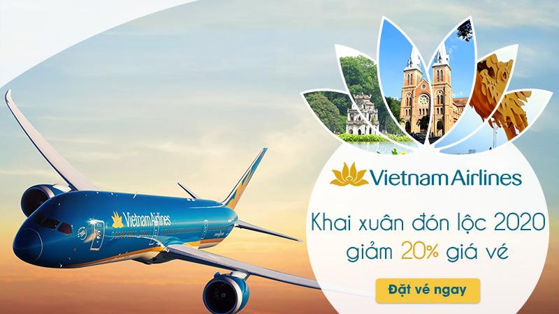 Vietnam Airlines khuyến mãi 20% giá vé khai xuân 2020