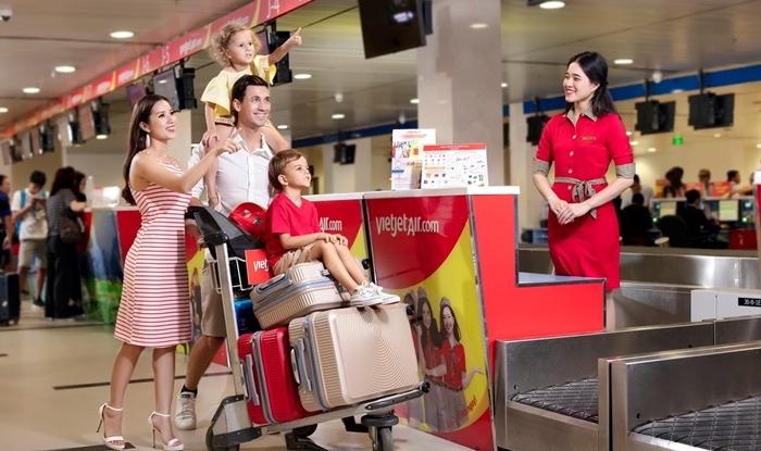 Mua thêm hành lý trả trước của Vietjet Air