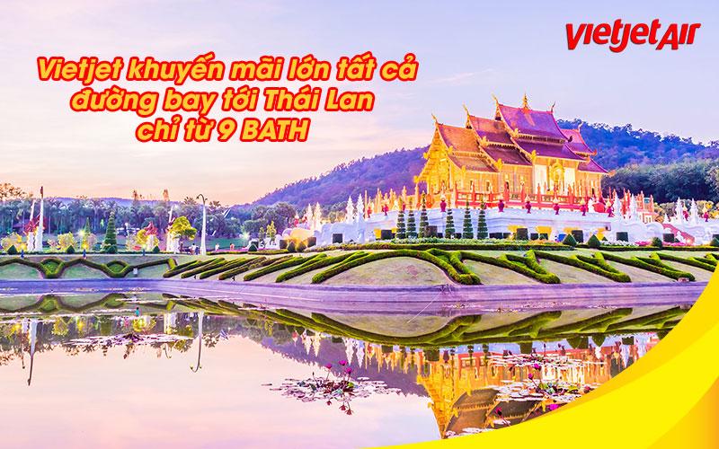 Vietjet Air khuyến mãi đường bay đến Thái Lan chỉ 6.500 VND