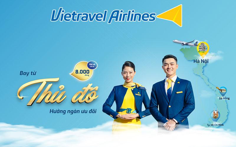 Kích cầu du lịch Vietravel Airlines khuyến mãi chỉ từ 8.000 VND