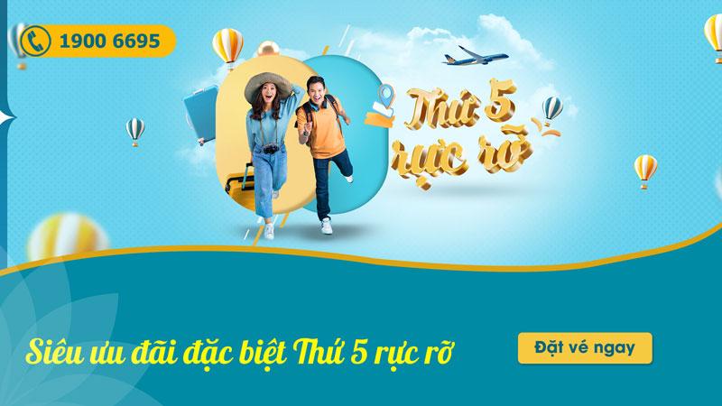 Vietnam Airlines khuyến mãi vé máy bay chỉ 513.000 VND thứ 5 rực rỡ