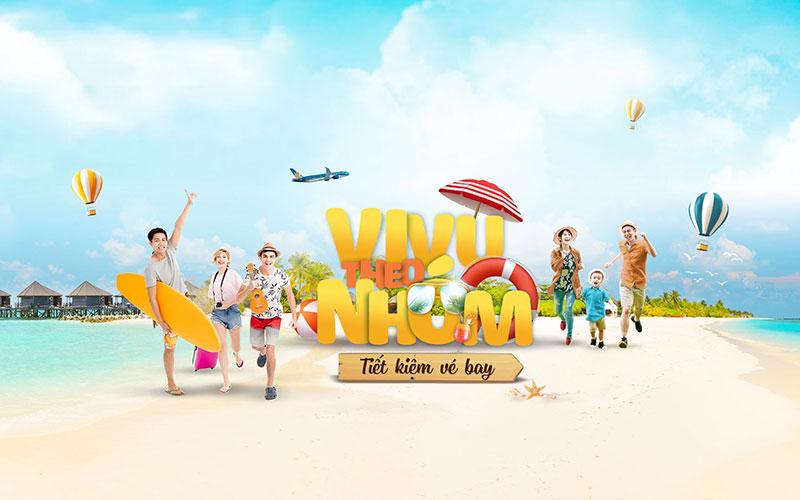 Vietnam Airlines khuyến mãi vivu theo nhóm giảm đến 15%