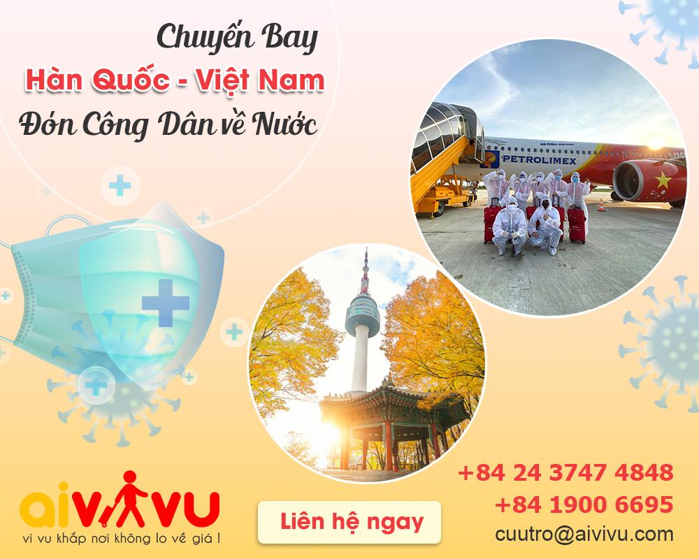 Vé máy bay từ Hàn Quốc về Việt Nam