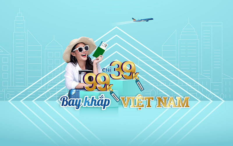 Chỉ từ 39.000 VND bay khắp Việt Nam khuyến mãi Vietnam Airlines