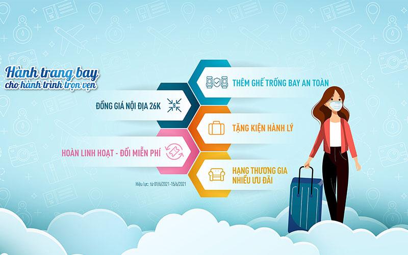 Khuyến mãi muôn vàn tiện ích đồng giá 26.000 VND Vietnam Airlines