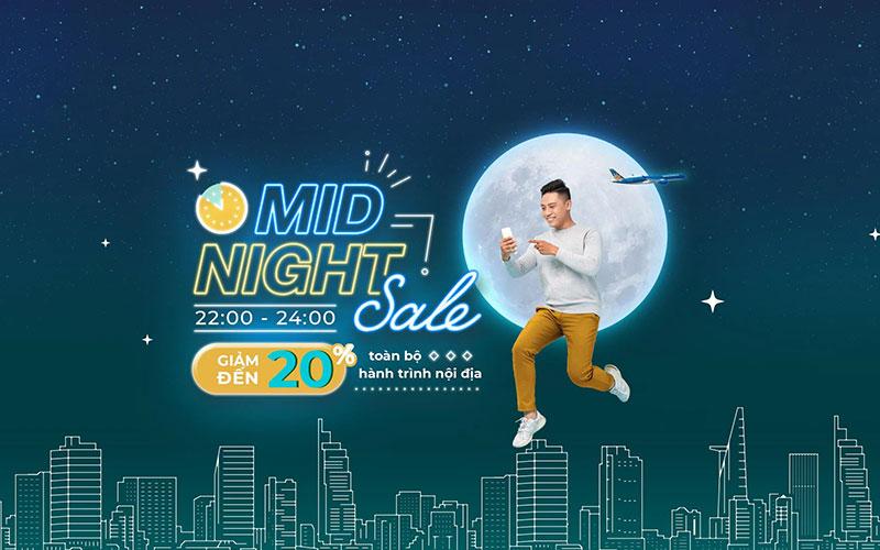 Vietnam Airlines khuyến mãi Mid – Night Sale giảm 20% giá vé