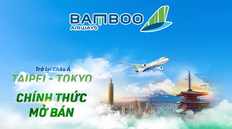 Bamboo Airways chính thức mở bán đường đi Đài Bắc, Tokyo