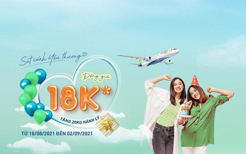 Khuyến mãi đồng giá 18.000 VND từ Bamboo Airways